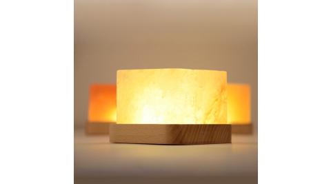 開運能量 天然負離子水晶鹽燈 淨化空氣 黃光燈 USB電源