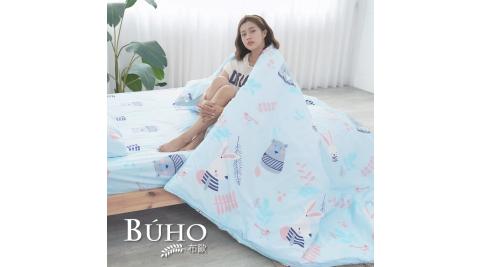 BUHO《朝氣滿點》雙人四件式舖棉兩用被床包組