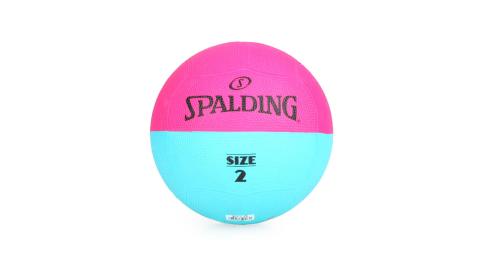 SPALDING TEAM 躲避球#2-2號球 桃紅水藍@SPBD2001@