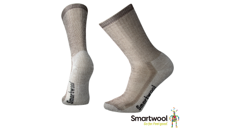 【SmartWool 智慧羊毛】SW0SW129236-中級減震型徒步中長襪 灰褐色 登山襪 羊毛襪 襪子