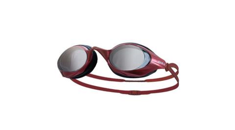 SABLE 黑貂 競速型塑剛玻璃鏡片泳鏡-清晰防霧 游泳 紅@100ST-03@