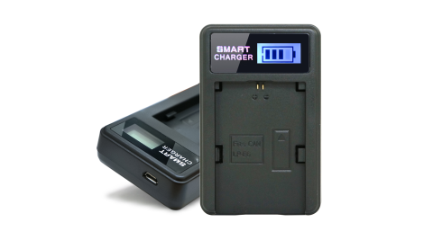 YHO 單槽 液晶顯示充電器(Micro輸入) for Canon LP-E6 / LPE6
