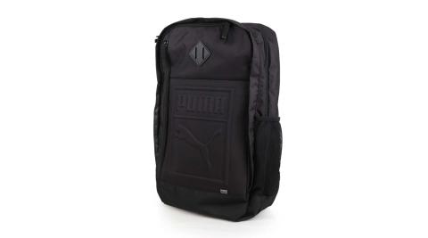 PUMA 後背包-雙肩包 旅行包 27L 15吋筆電 黑@07558101@