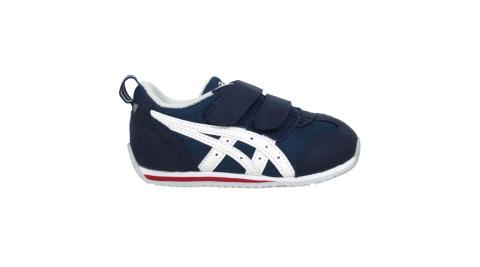 ASICS IDAHO BABY JP 男女小童運動鞋-魔鬼氈 亞瑟士 深藍白紅@TUB164-5001@
