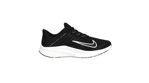 NIKE QUEST 3 男休閒運動鞋-慢跑 路跑 訓練 輕量 黑白@CD0230002@