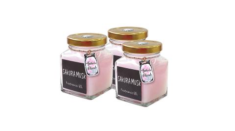 日本John's Blend 室內香氛擴香膏(135g/瓶)(麝香櫻花SAKURA MUSK)3入