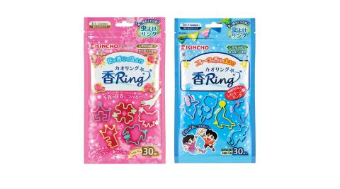 日本 KINCHO 金鳥 多造型驅蚊蟲環 30入 果香/花香