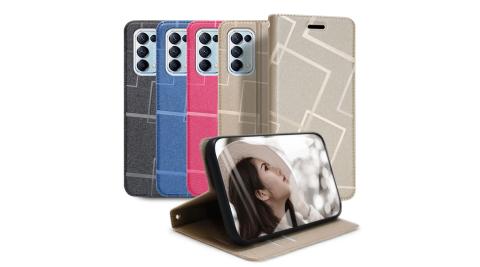 GENTEN for OPPO Reno5 Pro 極簡立方磁力手機皮套