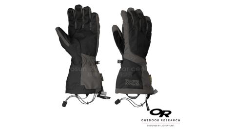 【美國 Outdoor Research】男款 ARETE GLOVES 雙層防風防水透氣保暖手套/Gore-Tex.超細纖維刷毛_黑 74944