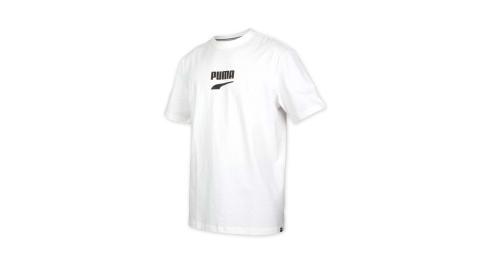 PUMA 男流行系列短袖T恤-純棉 短袖上衣 慢跑 休閒 寬版 歐規 白黑@59636752@