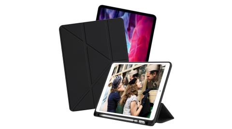 CITY 城市風 for iPad Pro 11.0(2020)/(2018) 共用 經典磁吸可三折Y折立架皮套-魅力黑