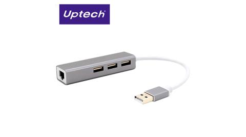 【Uptech】NET112H USB2.0 網路卡+HUB集線器