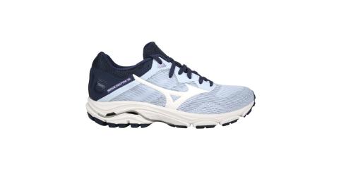 MIZUNO WAVE INSPIRE 16女慢跑鞋-WIDE-寬楦 美津濃 粉紫白丈青@J1GD204613@