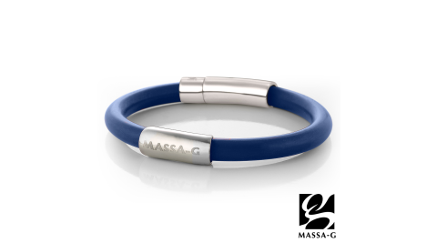 MASSA-G H-FEVER全彩6mm鍺鈦手環-比利時黯藍