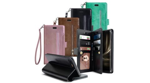 AISURE for Samsung Galaxy S9 自在生活多層次皮夾錢包手機皮套