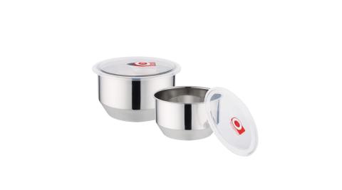禮品一番 304不鏽鋼保鮮調理鍋二入(1050ml+1600ml) POT-1416