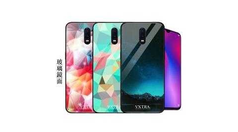 VXTRA OPPO R17 鋼化玻璃防滑全包保護殼 手機殼 繽紛系列