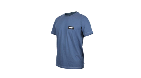 PUMA 男基本系列短袖T恤-慢跑 純棉 休閒 亞規 珊瑚藍黑白@58268743@