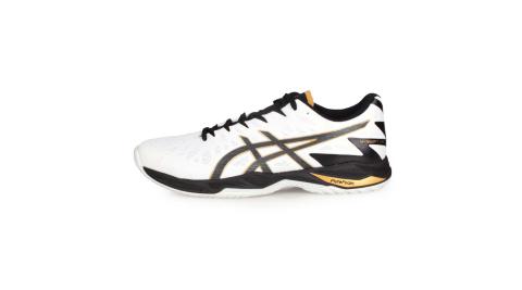 ASICS V-SWIFT FF 2 男女排羽球鞋-排球 羽球 訓練 亞瑟士 白黑@1053A027-100@
