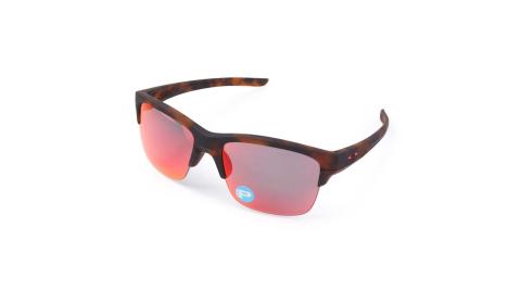 OAKLEY THINLINK 偏光運動休閒太陽眼鏡 - 附鏡袋無鼻墊 咖啡紅@OAK-OO9317-06@