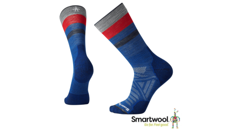 【SmartWool 智慧羊毛】SW001070491-男PhD戶外輕量中長襪-深藍 登山襪 羊毛襪 襪子