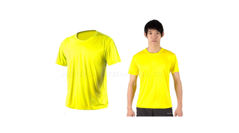 INSTAR 男女涼感短T恤-0秒吸排抗UV輕量吸濕排汗 黃@3103905@