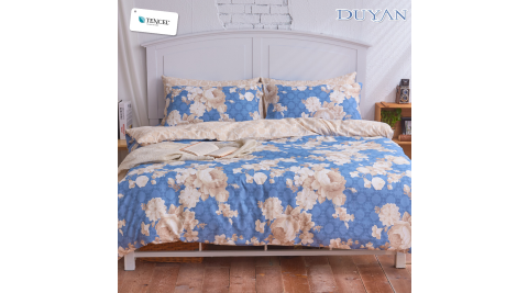 《DUYAN 竹漾》天絲雙人床包三件組- 花團錦簇
