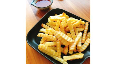 【餡智吉】香酥美式波浪薯條(600g/包)x12包