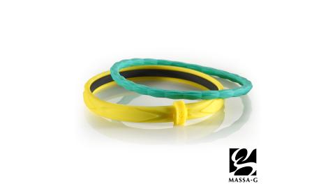 MASSA-G 繽紛幻彩鍺鈦能量手環-黃綠