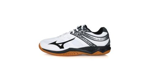 MIZUNO THUNDER BLADE 2男排球鞋-訓練  美津濃 白黑灰銀@V1GA197009@