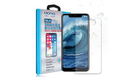 MONIA Nokia 5.1 Plus 日本頂級疏水疏油9H鋼化玻璃膜 玻璃保護貼(非滿版)