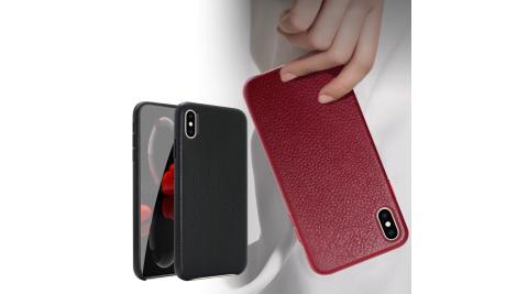 CITYBOSS for iPhone Xs/iPhone X  5.8吋 簡單經典真皮手機保護殼