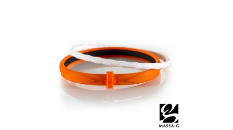 MASSA-G 繽紛幻彩鍺鈦能量手環-橘白