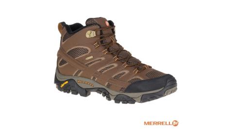 【MERRELL】MOAB 2 MID GORE-TEX 防水 登山健行鞋 男款 Vibram黃金大底 J06063