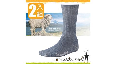 【美國 SmartWool】美國製造 美麗諾羊毛 男 超輕型健行中長襪.吸濕排汗_SW129 牛仔藍(2雙)