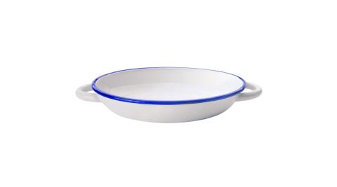 《IBILI》琺瑯雙耳餐盤(藍24cm)