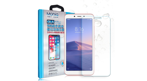 MONIA 紅米6 日本頂級疏水疏油9H鋼化玻璃膜 玻璃保護貼(非滿版)
