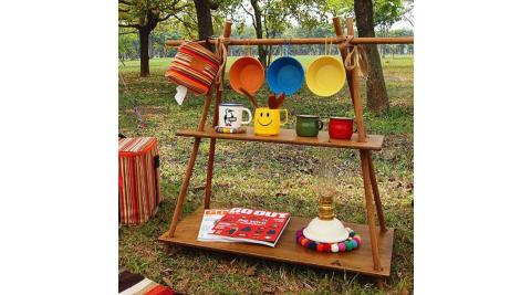 【HOT CAMP】手作梯形置物架 露營 置物架 園藝