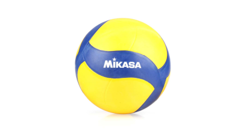 MIKASA 螺旋形橡膠排球-5號球 FIVB指定球 黃深藍白@MKV020W@