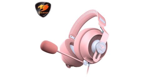 COUGAR 美洲獅 PHONTUM S PINK 耳罩式電競耳機 粉