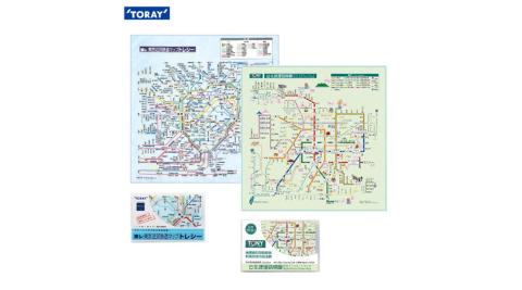 【日本東麗TORAY】台北+東京捷運路網圖拭淨布 超值組合