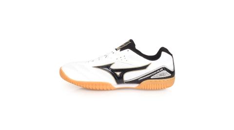 MIZUNO CROSSMATCH PLIO CN3 男桌球鞋-美津濃 白黑金@81GA183609@