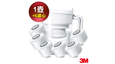 【3M】經典款即淨長效濾水壺WP3000(1壺+6濾心)