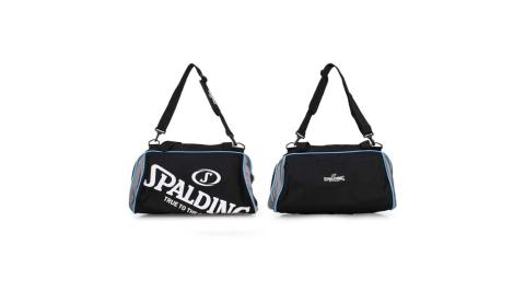 SPALDING 二顆裝休閒兩用袋-斯伯丁 籃球 手提袋 收納袋 行李袋 黑白藍@SPB5311N91@