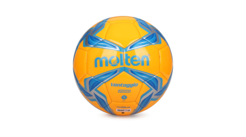 MOLTEN #5合成皮足球-訓練 橘藍@F5V2000-OB@