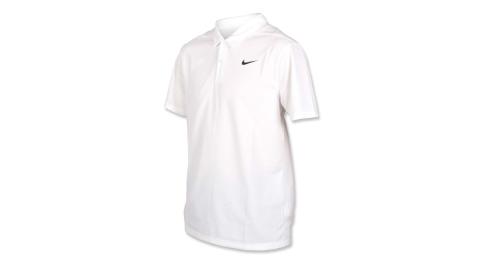 NIKE GOLF 男針織短袖POLO衫-短袖上衣 高爾夫 慢跑 白黑@AJ5480-100@