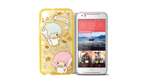 三麗鷗授權正版 KiKi&LaLa雙子星 HTC Desire 830 夢幻氣泡空壓防震殼(雙子甜點)