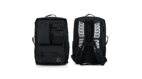 NIKE 大型氣墊背帶後背包- 雙肩包 旅行包 肩背包 AIR MAX 黑@CK2656-010@