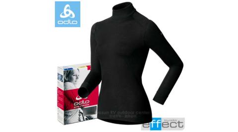 【瑞士 ODLO】warm effect 女高領機能型銀離子保暖上衣.內衣.長袖衛生衣.內搭衣.保暖內著/黑 152011