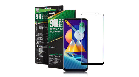 NISDA for 三星 Samsung Galaxy M11 完美滿版玻璃保護貼-黑